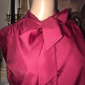 Career burgundy blouse